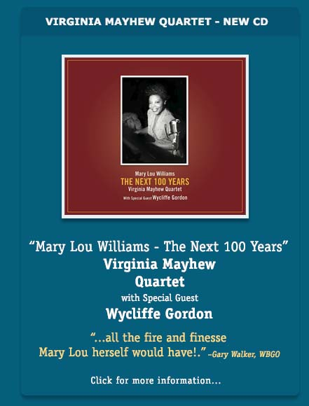 Virginia Mayhew - Mary Lou Williams - The NExt 100 Years CD