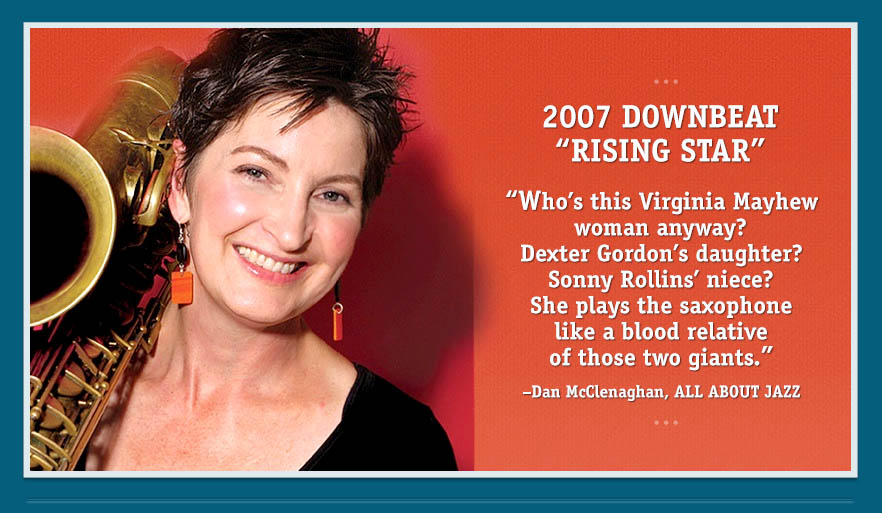 Jazz saxophonist Virginia Mayhew